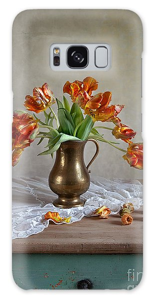 Tulip Galaxy Case - Still Life With Tulips by Nailia Schwarz