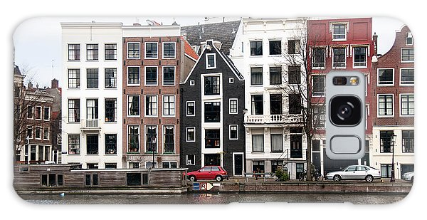 City Scenes From Amsterdam Galaxy Case by Carol Ailles