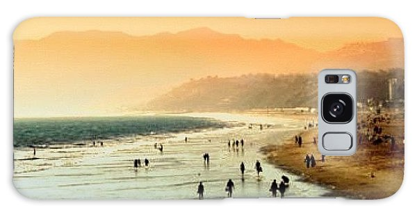 Beautiful Galaxy Case - Santa Monica Beach by Luisa Azzolini