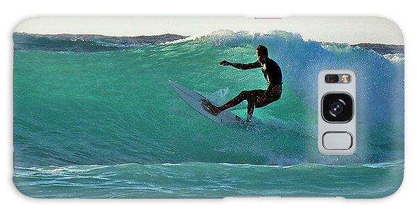 A-bay Sunset Surfer Galaxy Case
