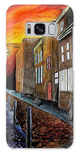Galaxy Case featuring the mixed media A Cobbled Street by eVol  i