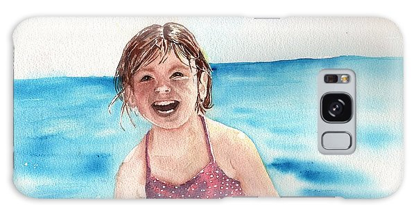 A Day At The Beach Makes Everyone Smile Galaxy Case by Sharon Mick