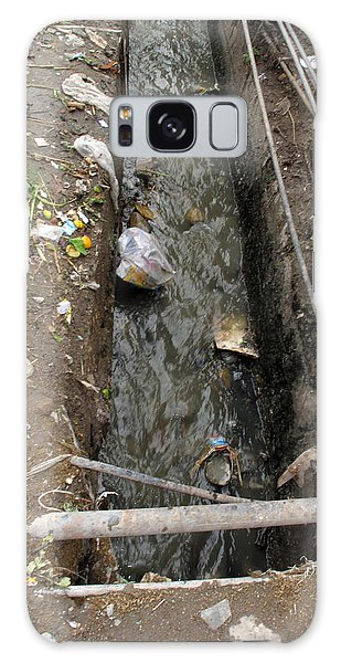 A Dirty Drain With Filth All Around It Representing A Health Risk Galaxy Case by Ashish Agarwal
