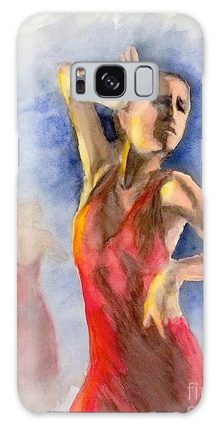 A Flamenco Dancer  2 Galaxy Case by Yoshiko Mishina