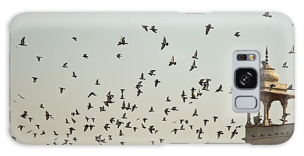 A Flock Of Pigeons Crowding One Of The Structures On Top Of The Red Fort Galaxy Case by Ashish Agarwal
