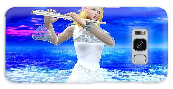 A Girl Playing Flute Galaxy Case