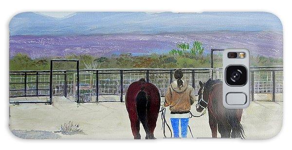 Texas - A Good Ride Galaxy Case by Christine Lathrop