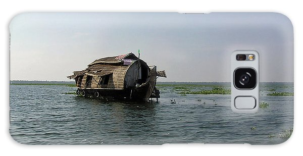 A Houseboat Moving Placidly Through A Coastal Lagoon In Alleppey Galaxy Case by Ashish Agarwal