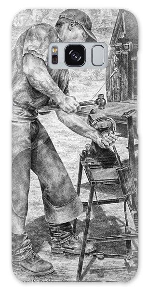 A Man And His Trade - Farrier Art Print Galaxy Case