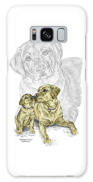 A Mothers Love - Labrador Dog Print Color Tinted Galaxy Case