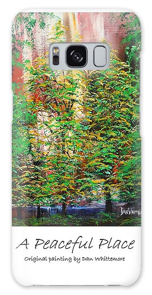 A Peaceful Place Poster Galaxy Case