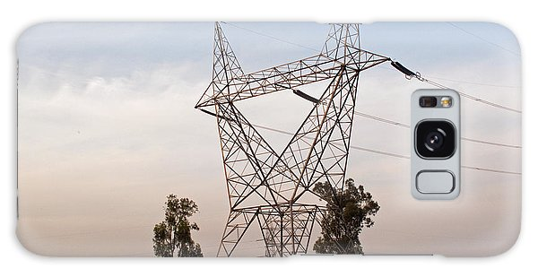 A Transmission Tower Carrying Electric Lines In The Countryside Galaxy Case by Ashish Agarwal