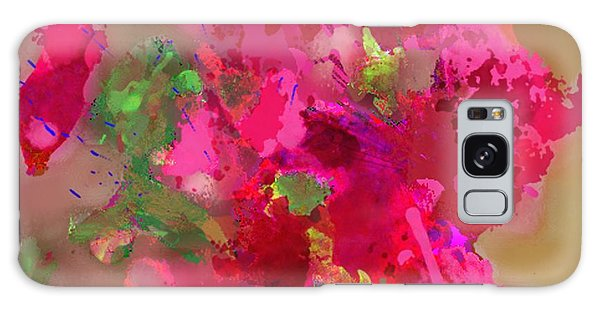 Abstract Bougainvillea Painting Floral Wall Art Galaxy Case