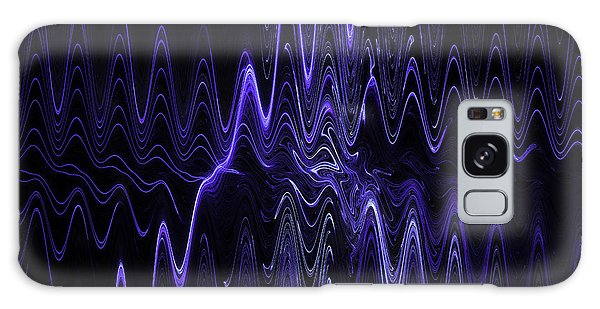 Abstract Digital Blue Waves Fractal Image Black Computer Art Galaxy Case by Keith Webber Jr