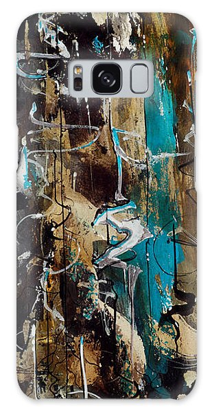 Abstract In Blue And Brown Galaxy Case