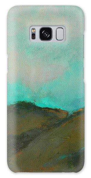 Abstract Landscape - Turquoise Sky Galaxy Case