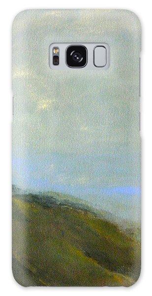 Abstract Landscape - Green Hillside Galaxy Case