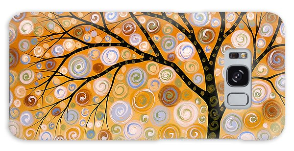 Abstract Modern Tree Landscape Dreams Of Gold By Amy Giacomelli Galaxy Case