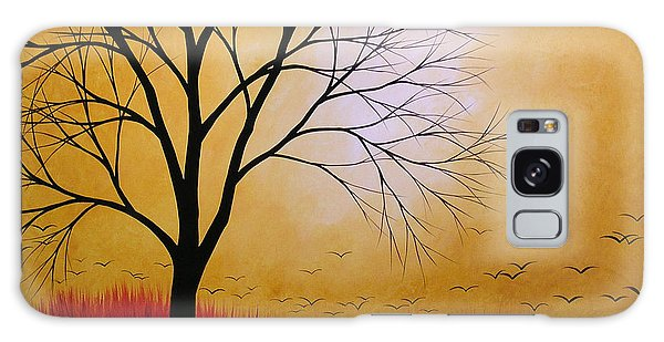 Abstract Original Tree Painting Summers Anticipation By Amy Giacomelli Galaxy Case