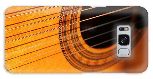 Acoustic In The Sunset Galaxy Case by Elizabeth Sullivan
