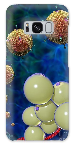 Galaxy Case featuring the digital art Adenovirus 36 And Fat Cells by Russell Kightley