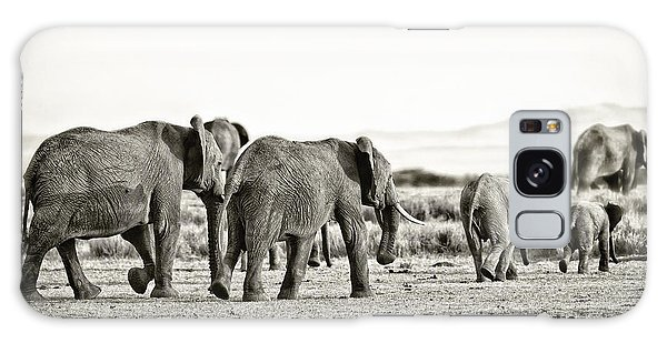 African Elephants In The Masai Mara Galaxy Case