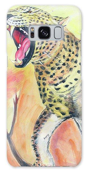 African Leopard Galaxy Case by Emmanuel Baliyanga