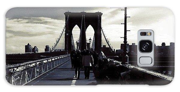 Afternoon On The Brooklyn Bridge Galaxy Case