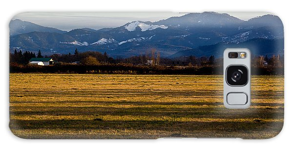 Afternoon Shadows Across A Rogue Valley Farm Galaxy Case by Mick Anderson