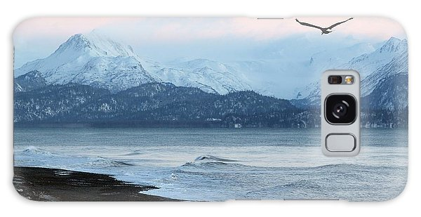 Alaskan Beach At Sunset Galaxy Case by Michele Cornelius