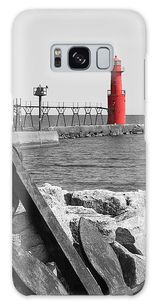 Algoma Lighthouse Is Anchored Galaxy Case