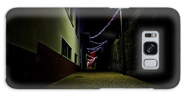 Alley With Lights Galaxy Case