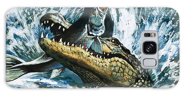 Alligator Eating Fish Galaxy S8 Case