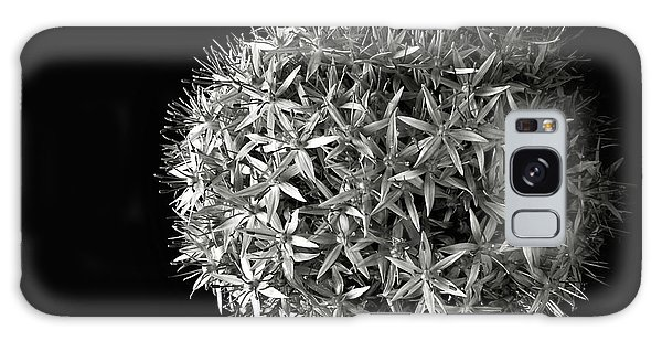 Allium In Black And White Galaxy Case by Endre Balogh