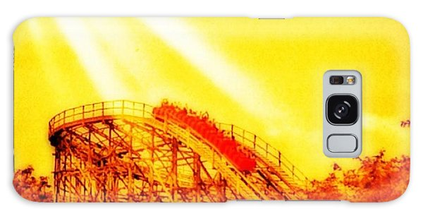 Amazing Galaxy Case - #amazing Shot Of A #rollercoaster At by Pete Michaud