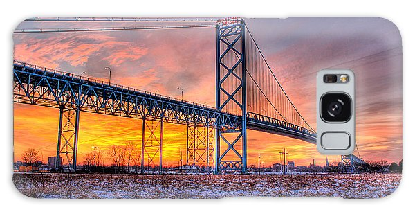 Ambassador Bridge Sunrise 1-16-2012  Detroit Mi Galaxy Case