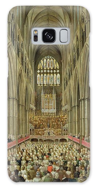 An Interior View Of Westminster Abbey On The Commemoration Of Handel's Centenary Galaxy Case