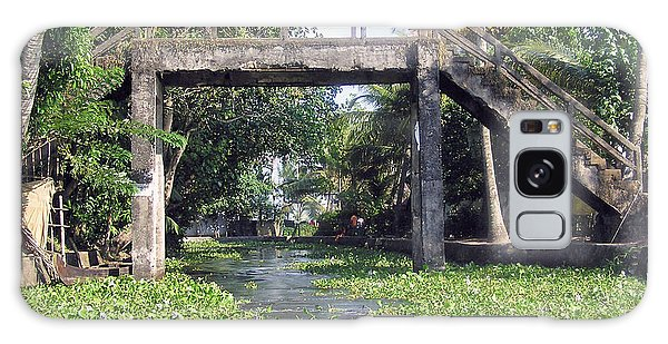 An Old Stone Bridge Over A Canal In Alleppey Galaxy Case