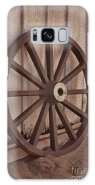 An Old Wagon Wheel Galaxy Case by Donna Greene