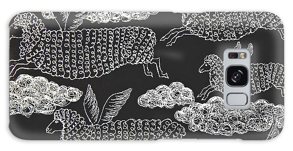 And Sheep Can Fly Galaxy Case by Nareeta Martin