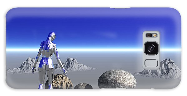 Android On The Blue Planet Galaxy Case