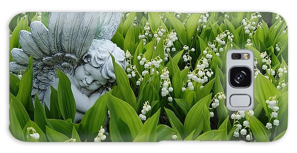 Angel In The Lilies Galaxy Case by Steven Clipperton