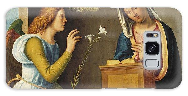 Annunciation Galaxy Case - Annunciation To The Virgin by Giovanni Battista Cima da Conegliano