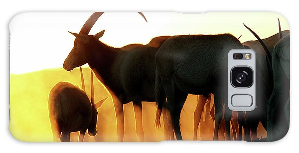 Antelope At Sunset Galaxy Case