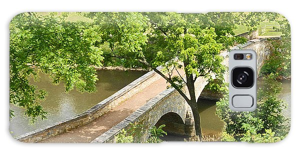 Antietam's Burnside Bridge Galaxy Case by Cindy Manero