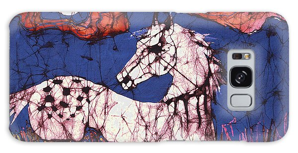 Appaloosa In Flower Field Galaxy Case