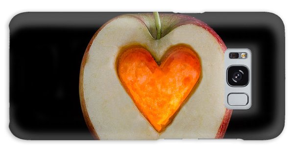 Apple With A Heart Galaxy Case