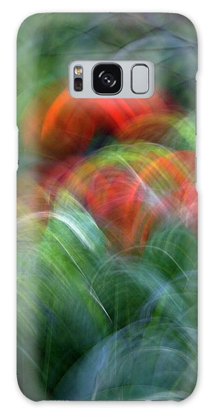 Arches Of Flowers Galaxy Case
