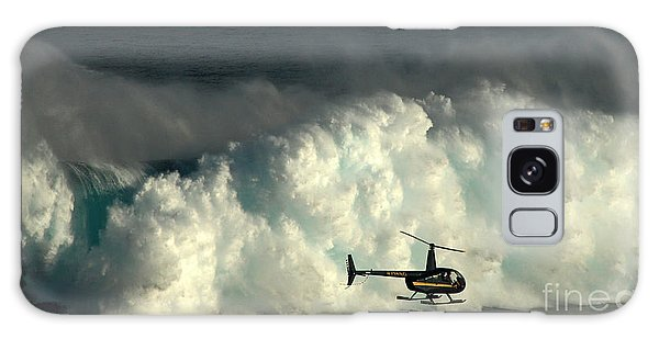 At Peahi Galaxy Case by Vivian Christopher