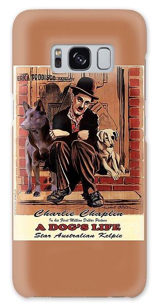 Australian Kelpie - A Dogs Life Movie Poster Galaxy Case